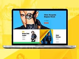 原创电商网页设计 - DELSEL美国潮牌