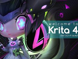Welcome to Krita 4 -科幻女仆装 KIKI