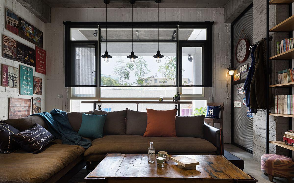 勃朗设计-原味工业风loft小豪宅装修设计实景图