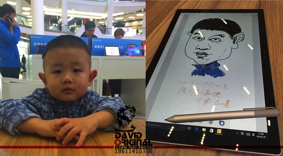 大卫原创(北京)手绘工作室继续携手微软,助力新品发布!