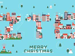 中兴2016圣诞动态海报设计