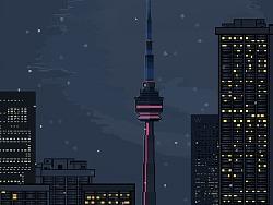 The City boundary pixel