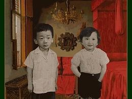 给情侣做童年合照,他说青梅竹马是中国人最羡慕的爱情!