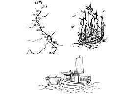 京杭大运河沿途风景线稿