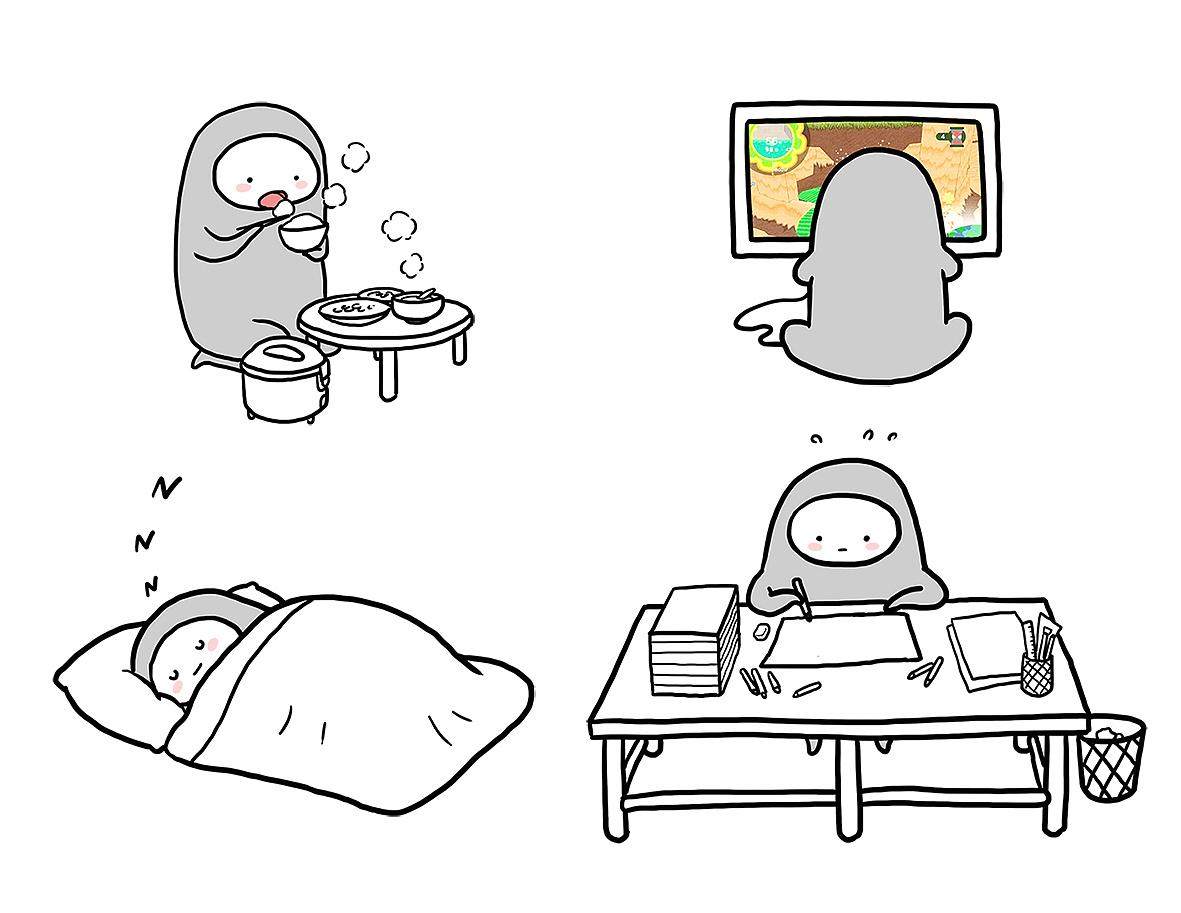 有吃饭小人 游戏小人 睡觉小人 工作小人 恋爱小人等等等等…… 他们图片