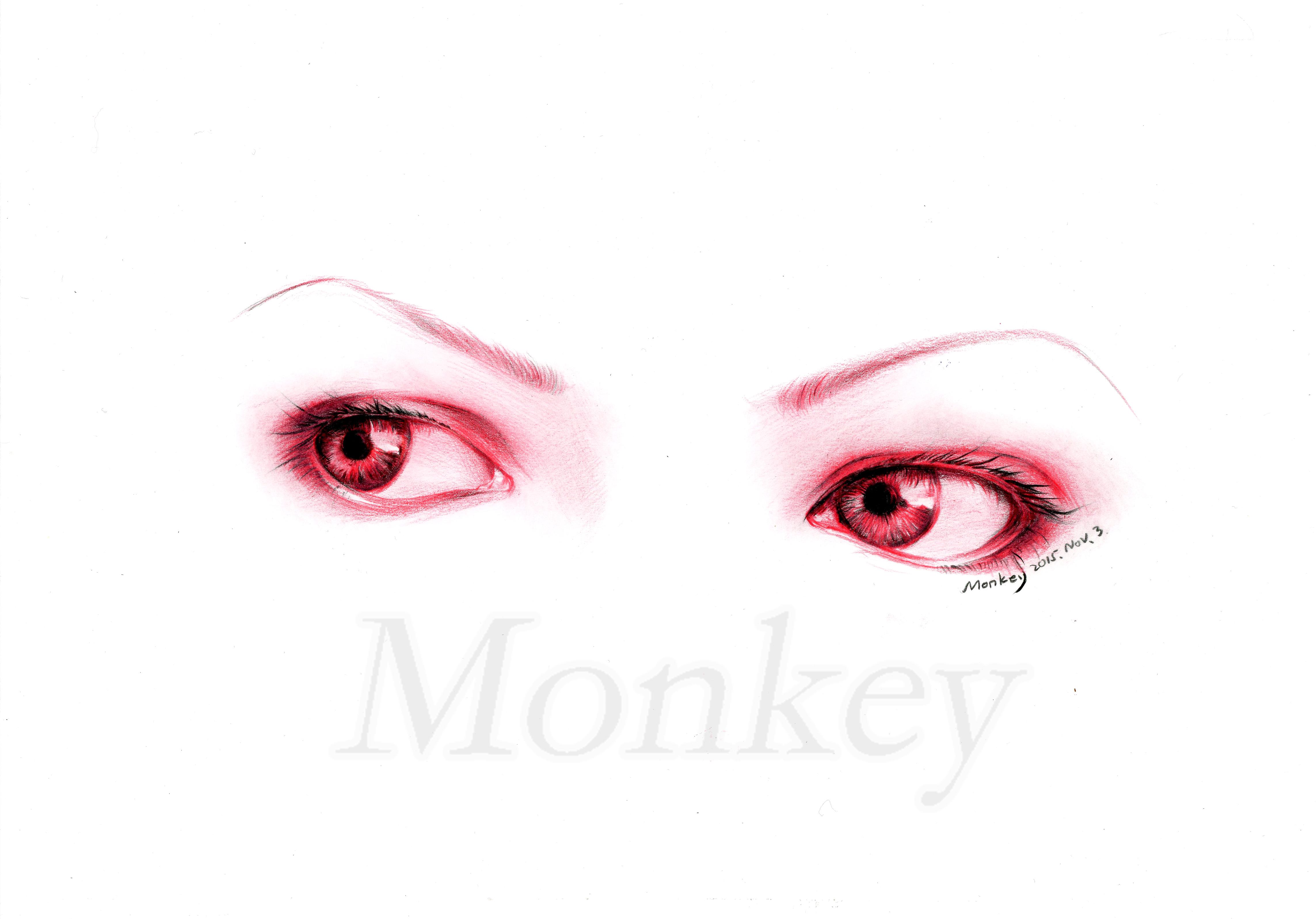 眼睛彩铅手绘