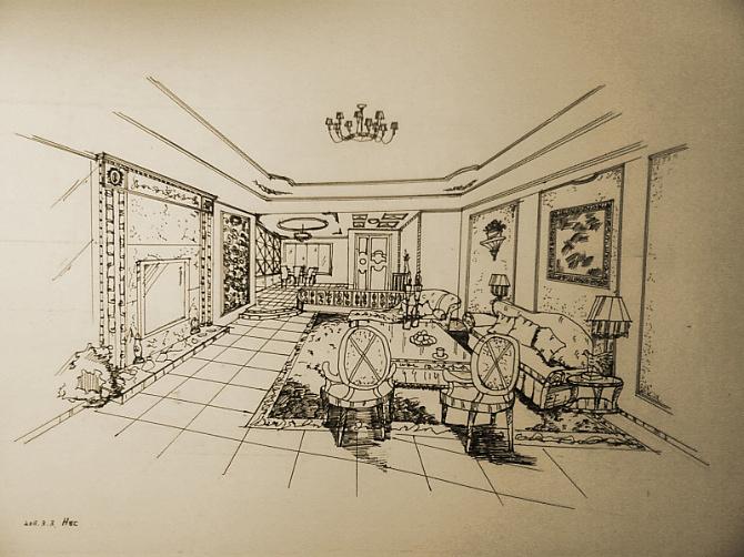 室内设计线稿