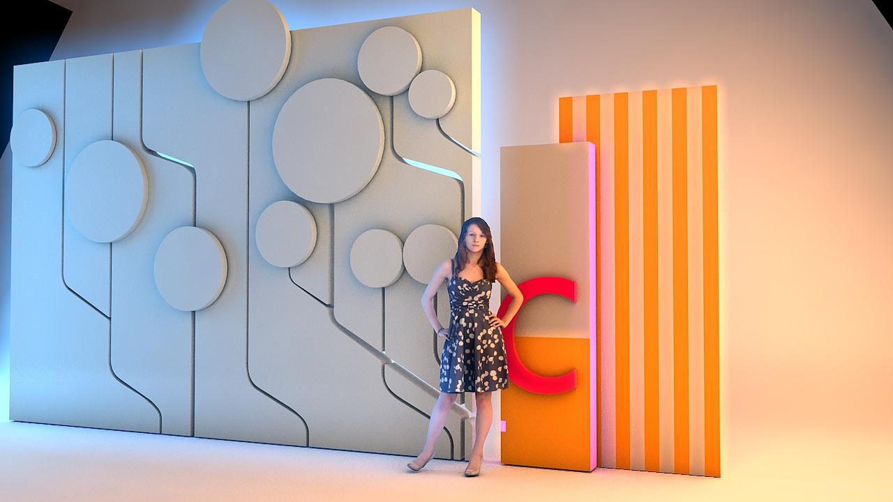世纪金源购物中心形象墙|空间|导视设计|深蓝iv图片