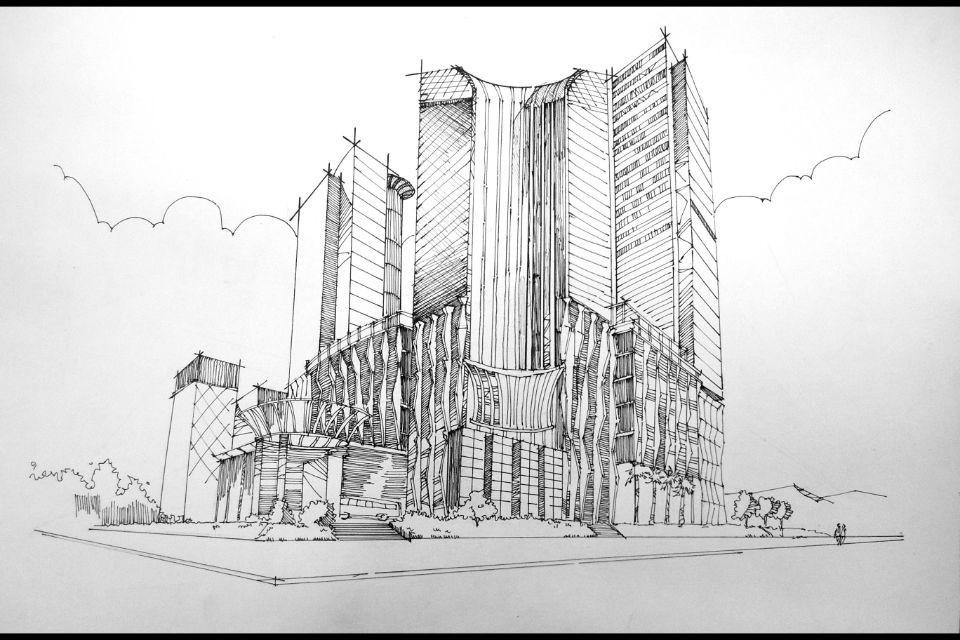 建筑手绘表现技法|空间|建筑设计|别惹毛了阿达
