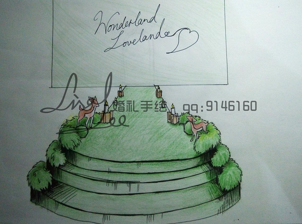 婚礼手绘图