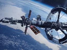 科幻未来 2055年 新星号探索飞船 场景概念设计