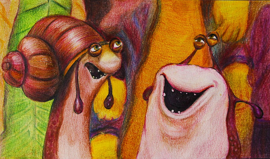 森林战士-彩铅手绘