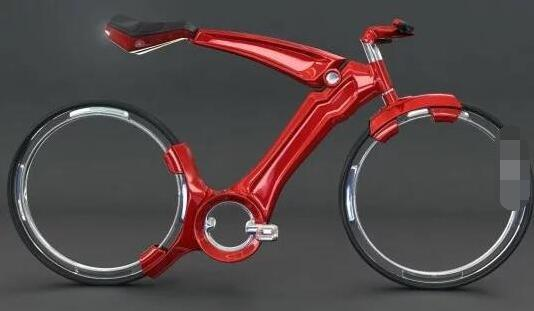 超有未来设计的自行车
