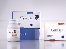 药盒包装建模&渲染