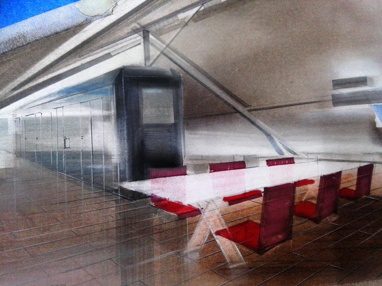 tt手绘培训材质训练—木材质,不锈钢|空间|室内设计