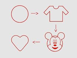 圆的变形动画 MG动画 线条变形动画