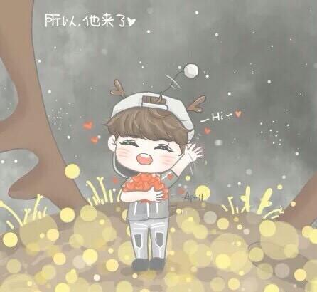 [一路伴晗]鹿晗卡通头像|动漫|动画片|帅气late