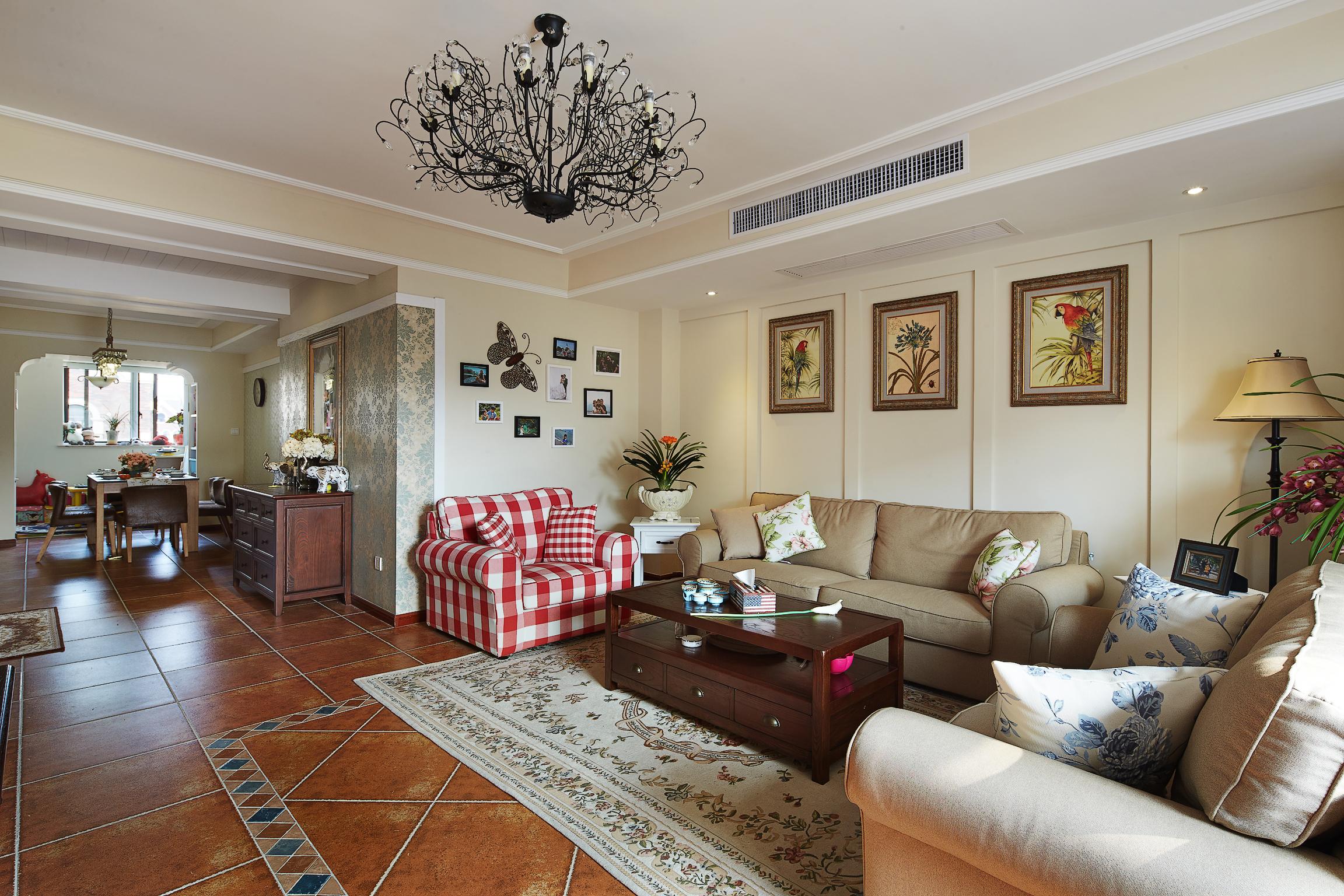 成都a空间易家装饰 美式空间板房120平 田园 室设计风格垂钓图片