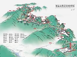塔云山手绘导览图