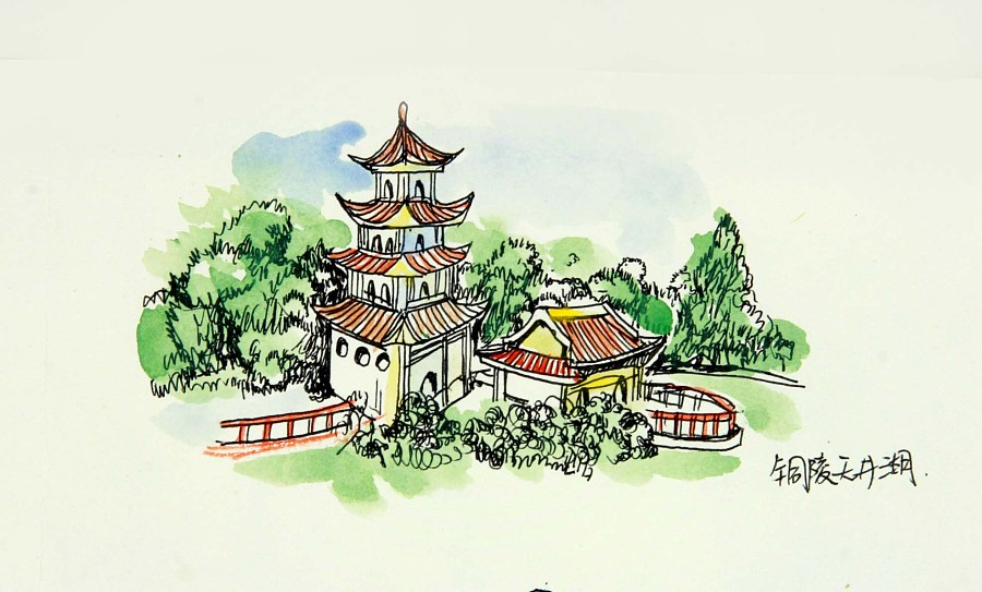 合福高铁线(安徽段)旅游手绘地图