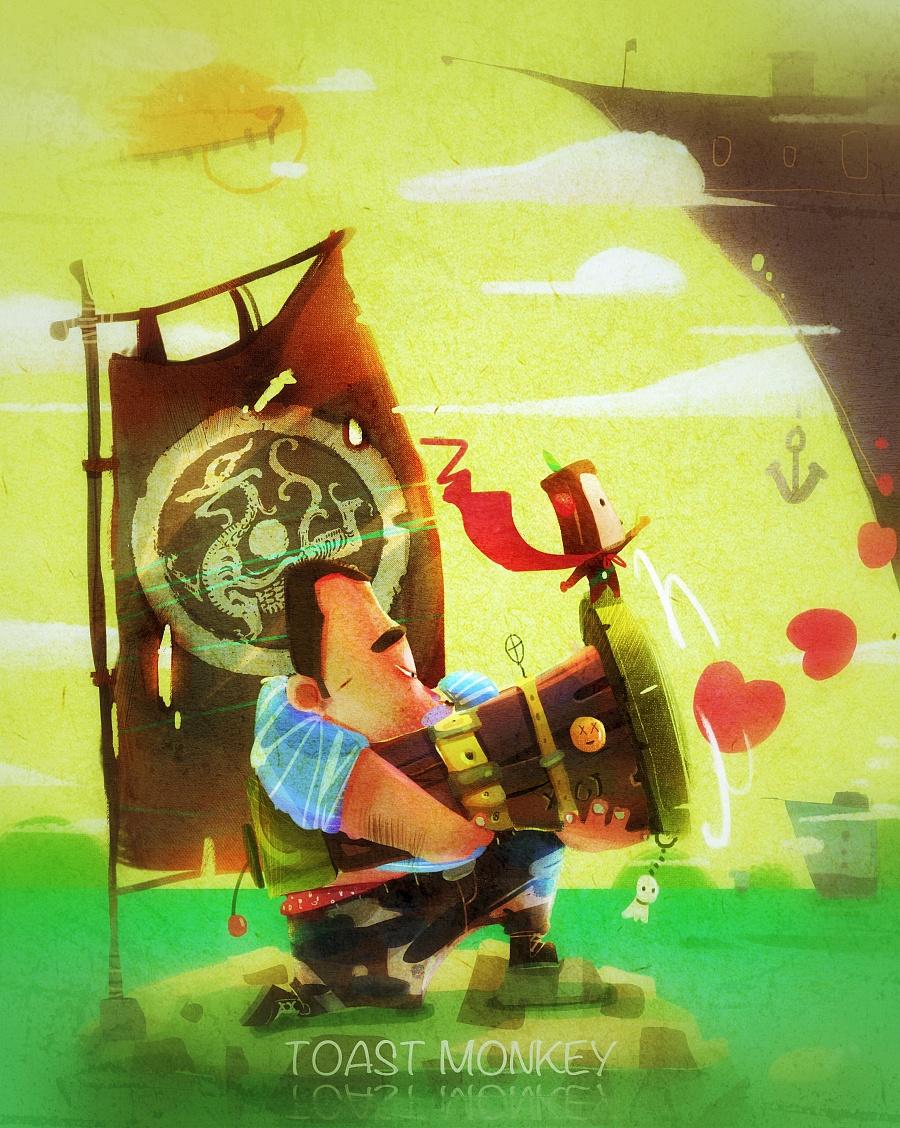 查看《接受我的爱心攻击-吐司猴》原图,原图尺寸:3071x3848