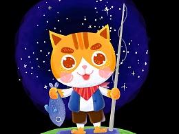 钓鱼の猫咪