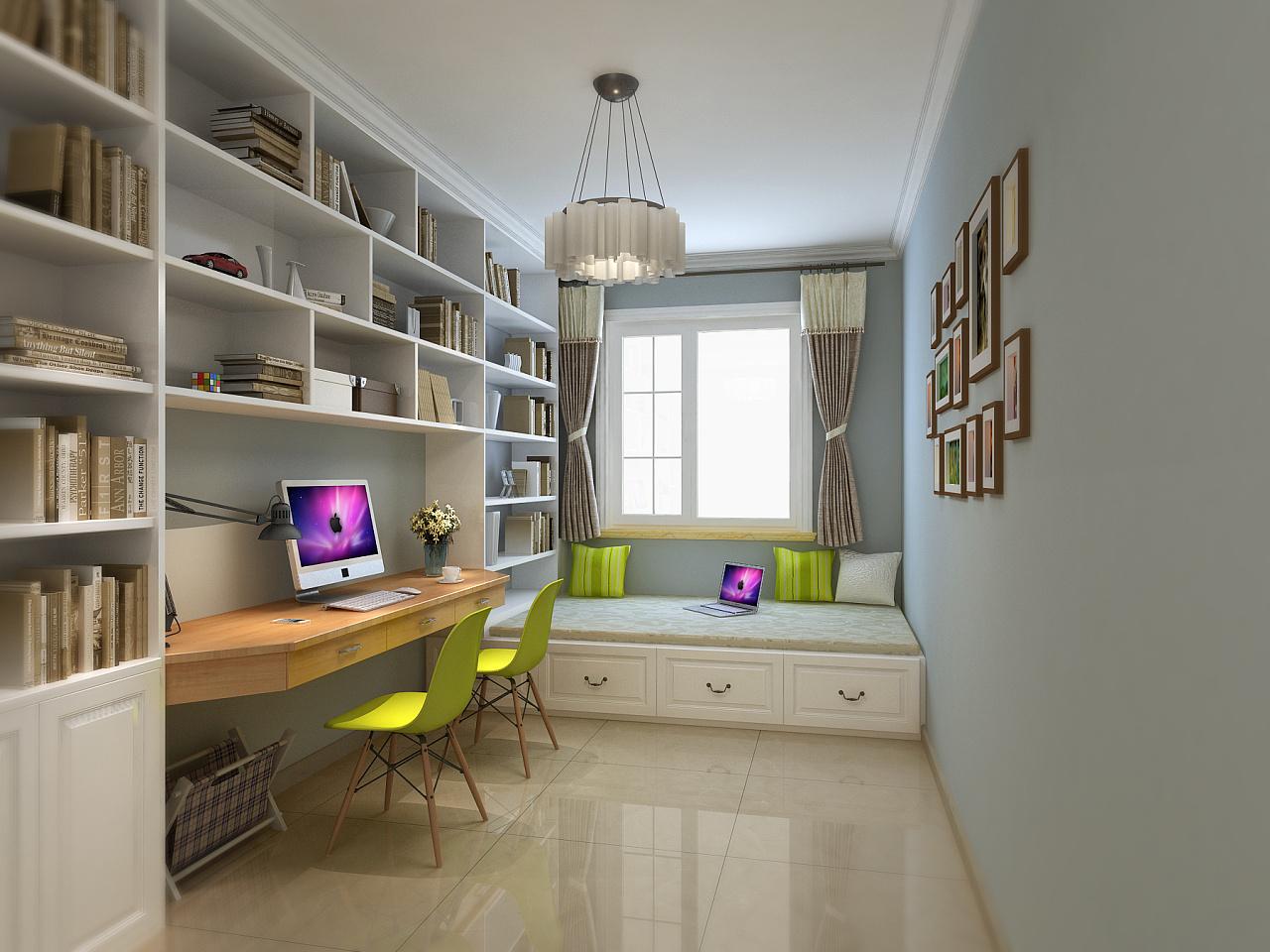 小书房一张|空间|室内设计|四维闲人 - 原创作品图片