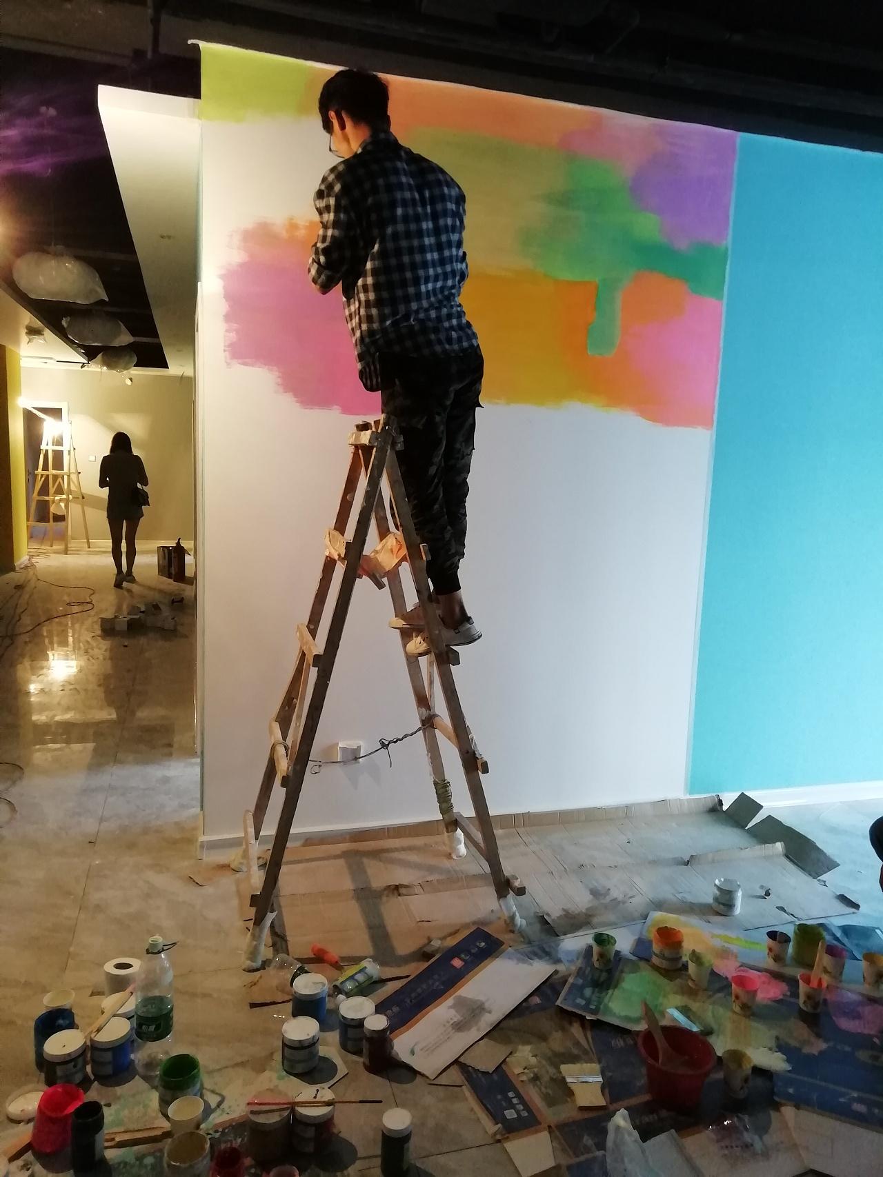 墙体彩绘 抽象画