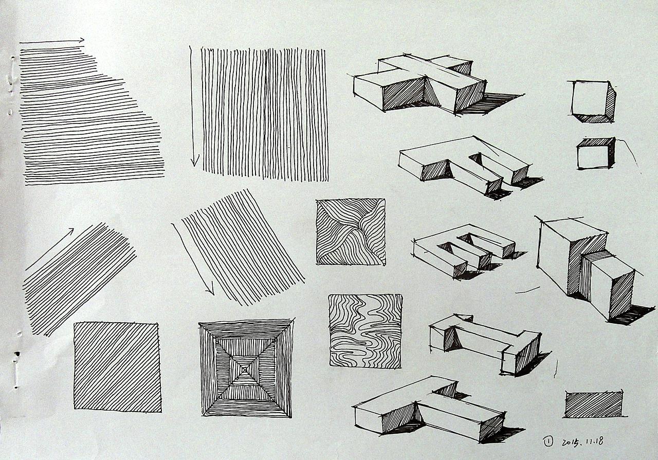 工业设计手绘线条练习
