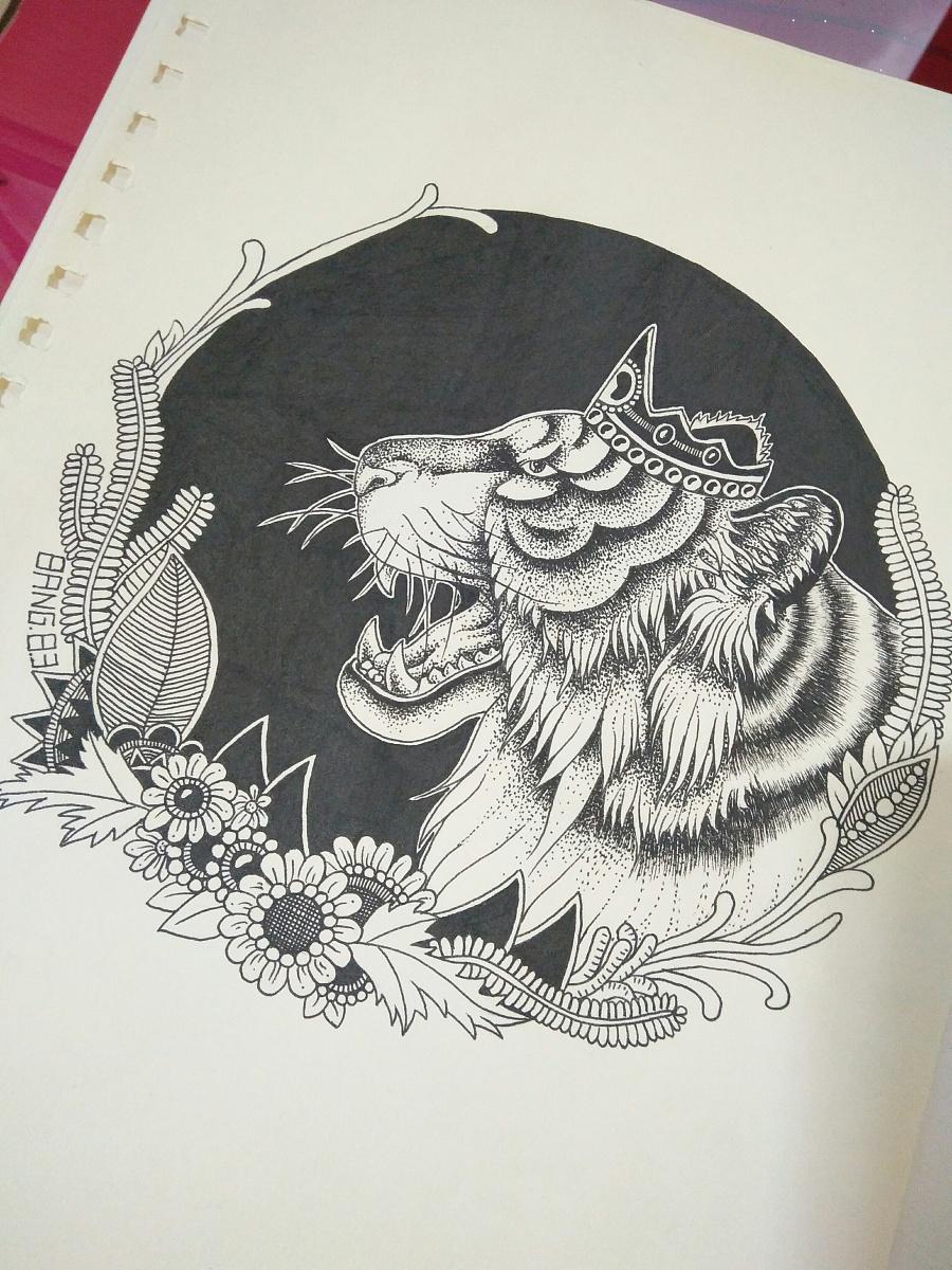 黑白插画 十二生肖图片