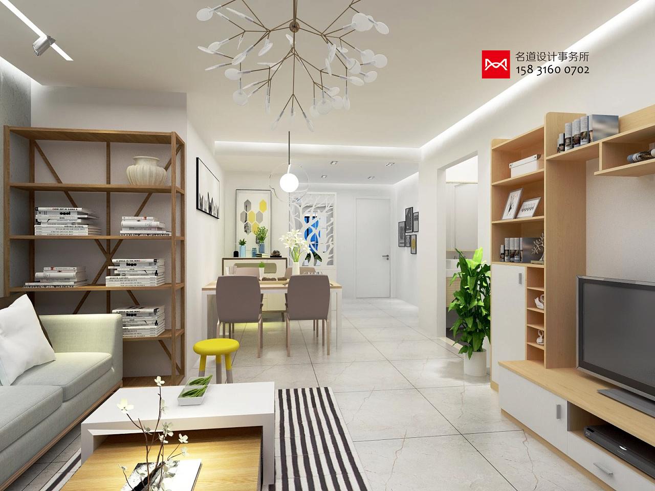 最新室内设计家园三室两厅两卫110平米廊坊文安御龙案例设计师v家园管理培训图片