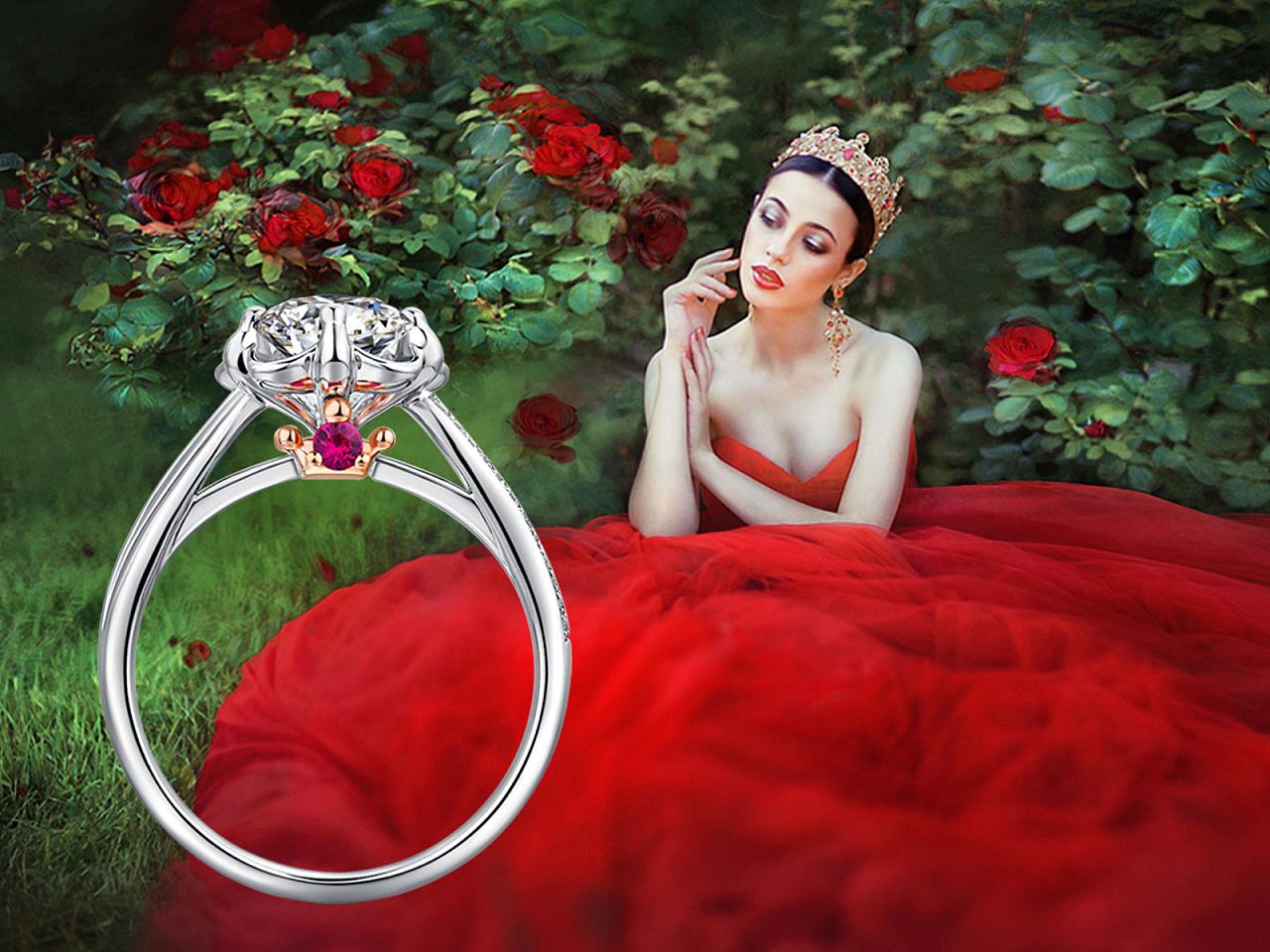 结婚钻石戒指设计手绘稿