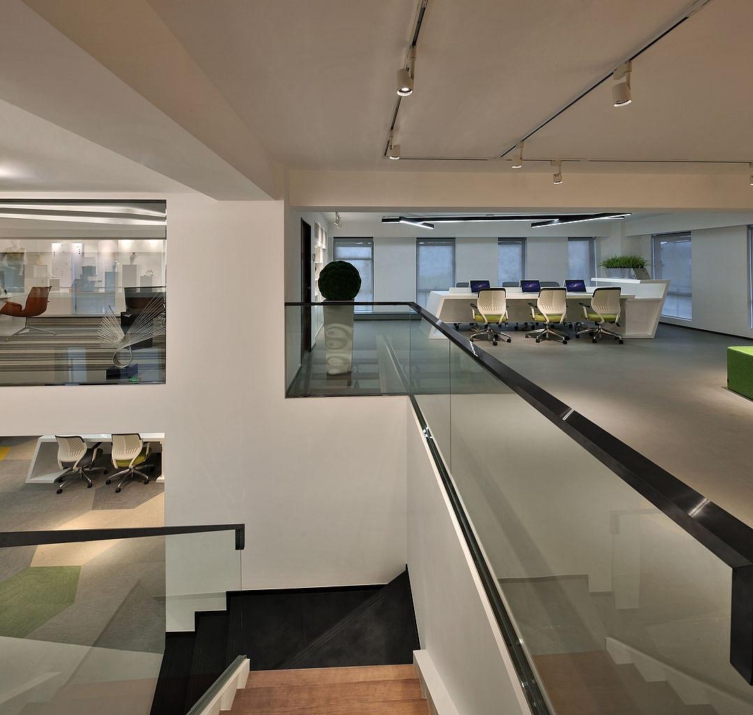 案例风格办公室装修框图-现代简约大厦|空间|室cad绘制里科技a3怎样图片