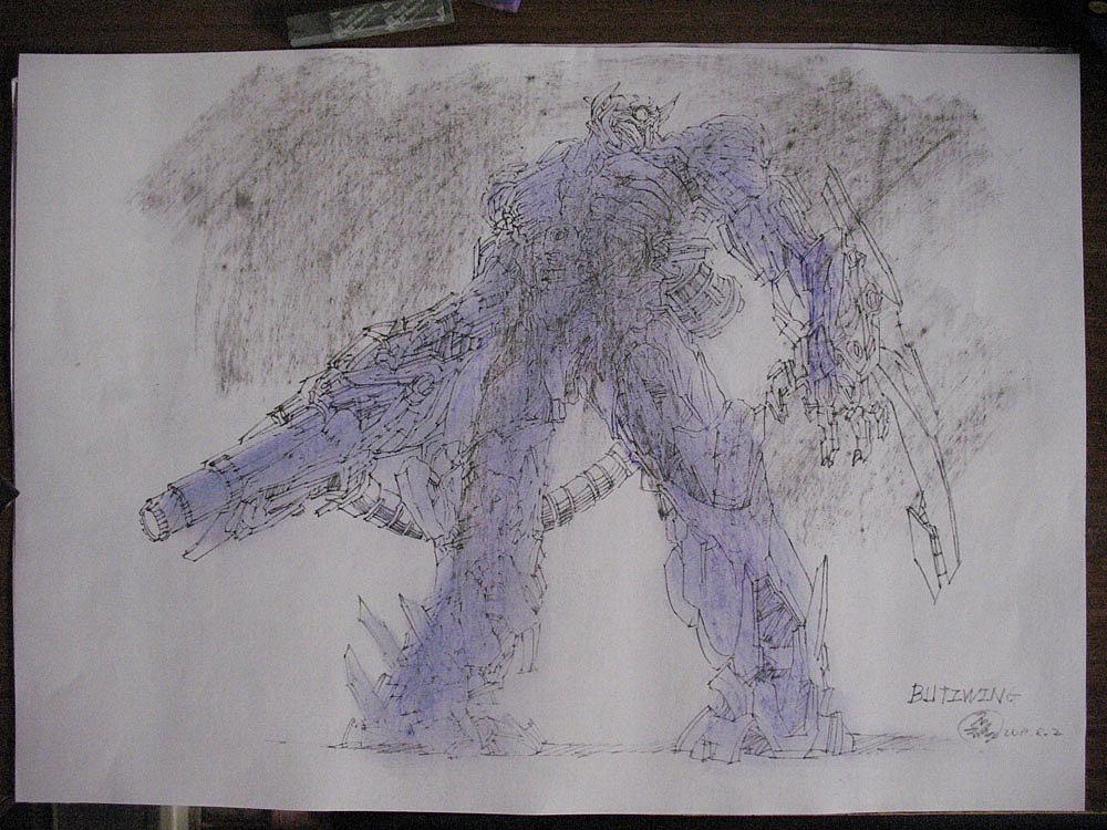 马克笔手绘变形金刚(2011年作品)*附带震荡波绘制过程