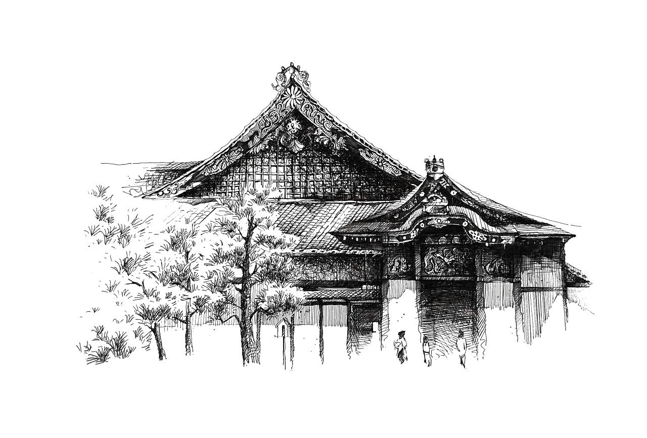手绘建筑(签字笔)