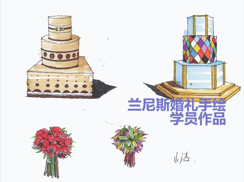 婚礼手绘(单体)