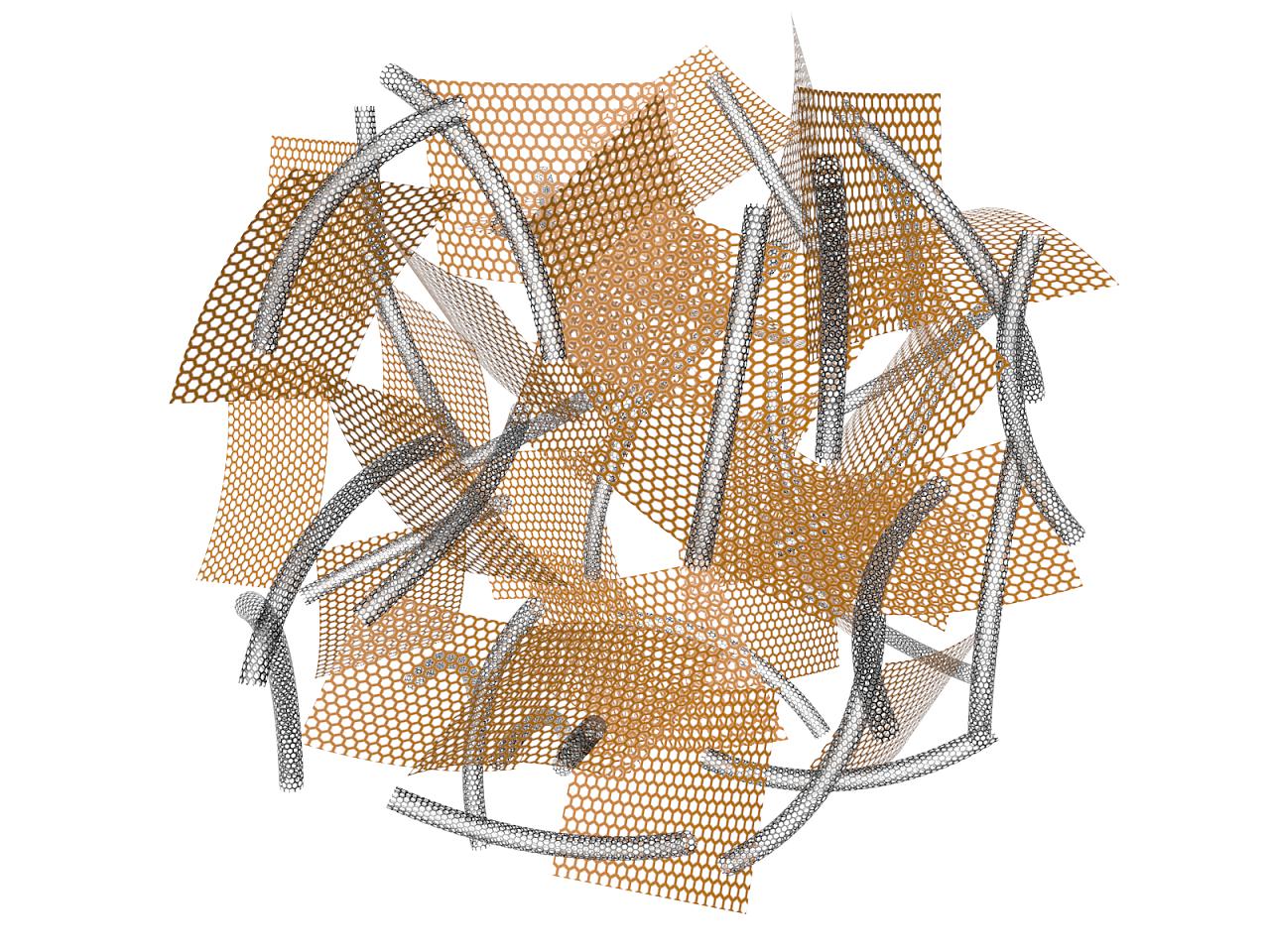 示意图:石墨烯&碳纳米管|三维|其他三维|hyp_jsu