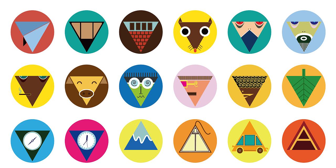 图形创意-三角形|平面|图案|阿清design - 原创作品图片