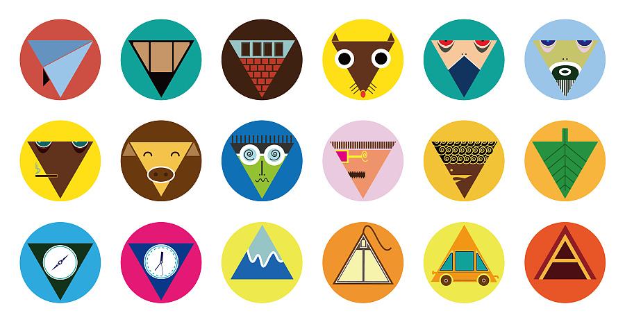 图形创意-三角形 图案 平面 阿清design - 原创设计图片