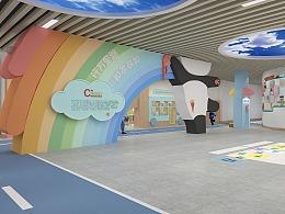 彩虹城主题幼儿园展示(原创工装室内设计附有施工图)