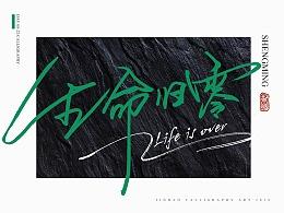 放浪时光-2019-8月书法-定制书法