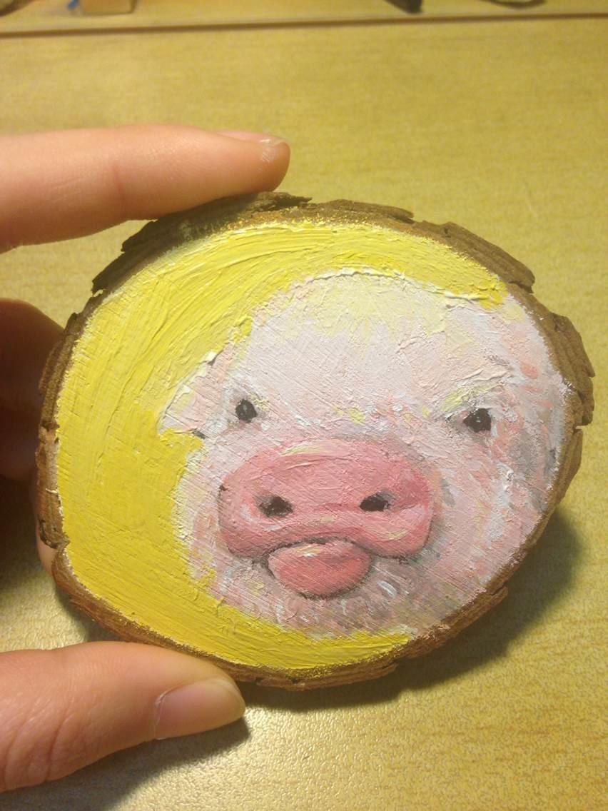我的一些木片画|纯艺术|油画|天注定 - 原创作品 - 站酷 (ZCOOL)
