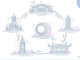 MBE建筑图标设计——厦门