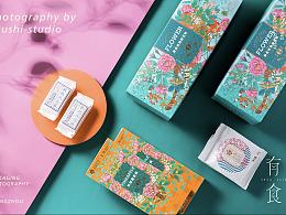 鲜花饼产品包装摄影