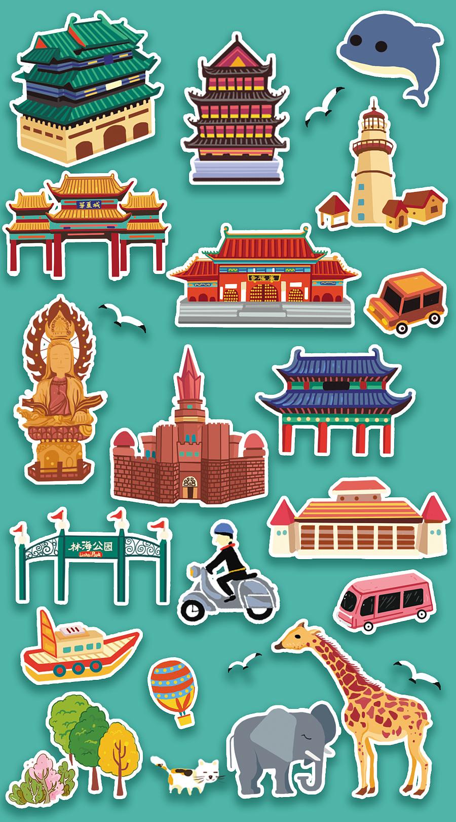 威海手绘地图|商业插画|插画|由程程yoyo - 原创设计