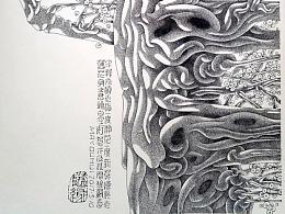 钢笔画[老梅新枝] 2