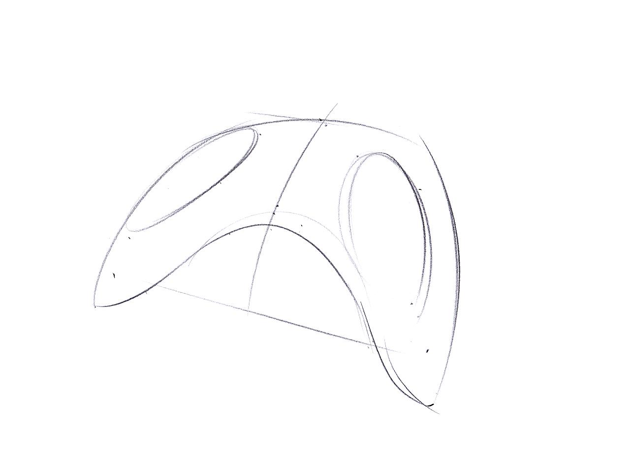 形体组合切割图片手绘