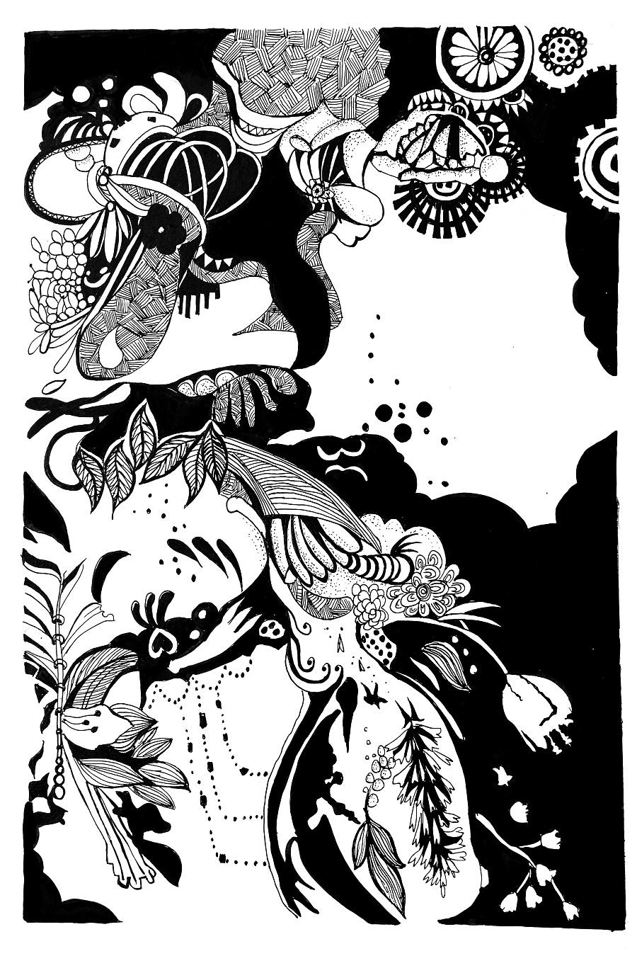 手绘插画|绘画习作|插画|牛淑玉