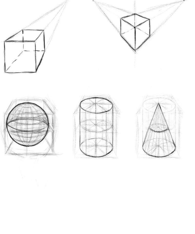 立方体透视练习