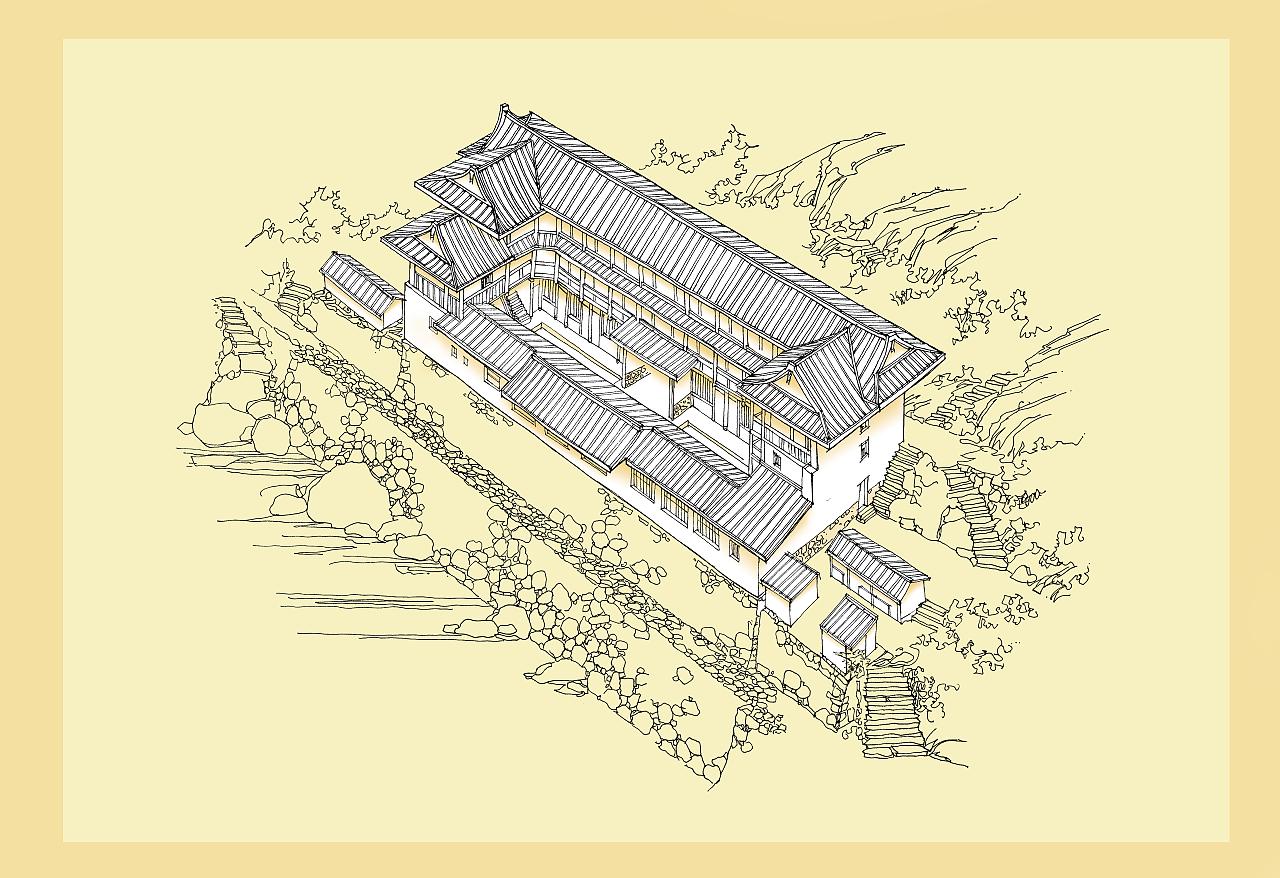 客家建筑文化, 土楼手绘稿,分析图